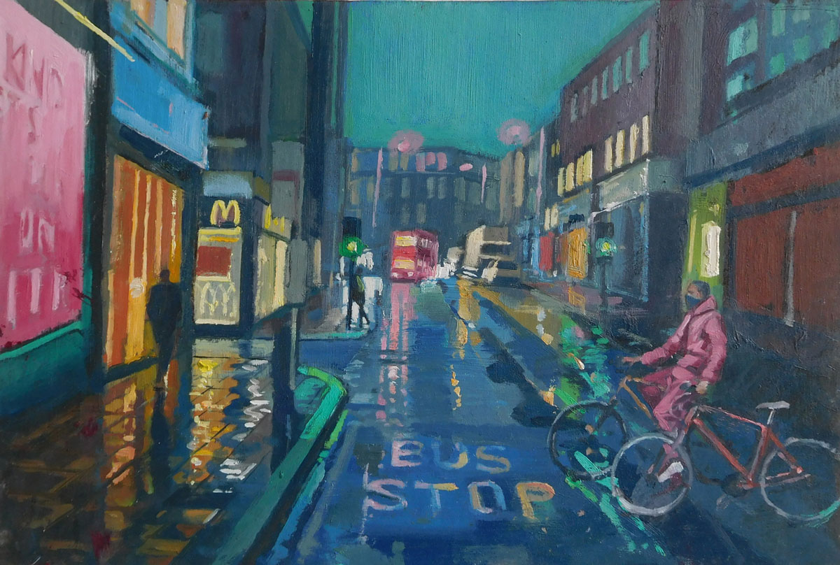 Mark-Pearson-artist-Boy-with-Two-Bikes-33cm-x-43cm-oil-on-board.jpg