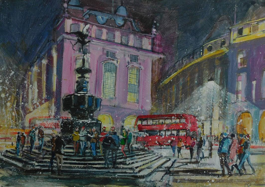 Mark-Pearson-artist-Carol[-Singers-Piccadilly-Circus-40cm-x-50cm-acrylic-&-ink-on-paper.jpg