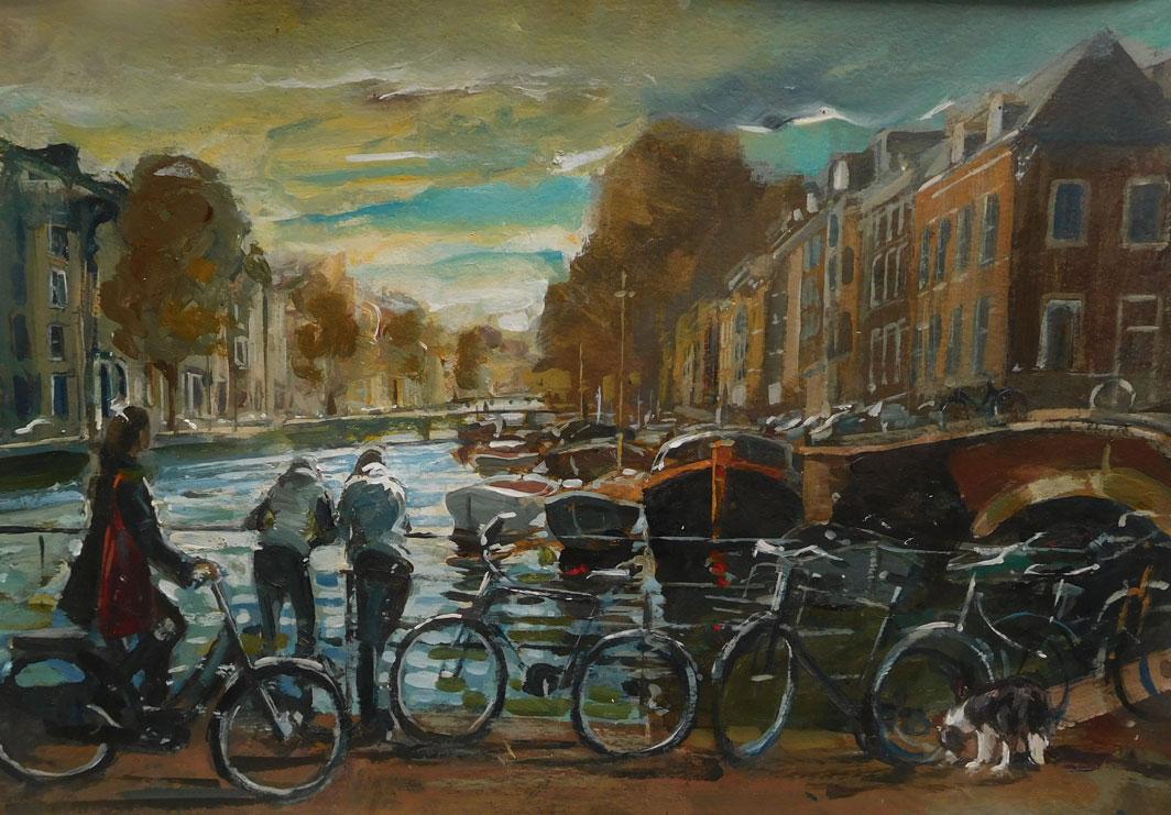 Mark-Pearson-artist-Conversatins-on-a-Bridge-40cm-x-50cm-acrylic-&-ink-on-paper.jpg