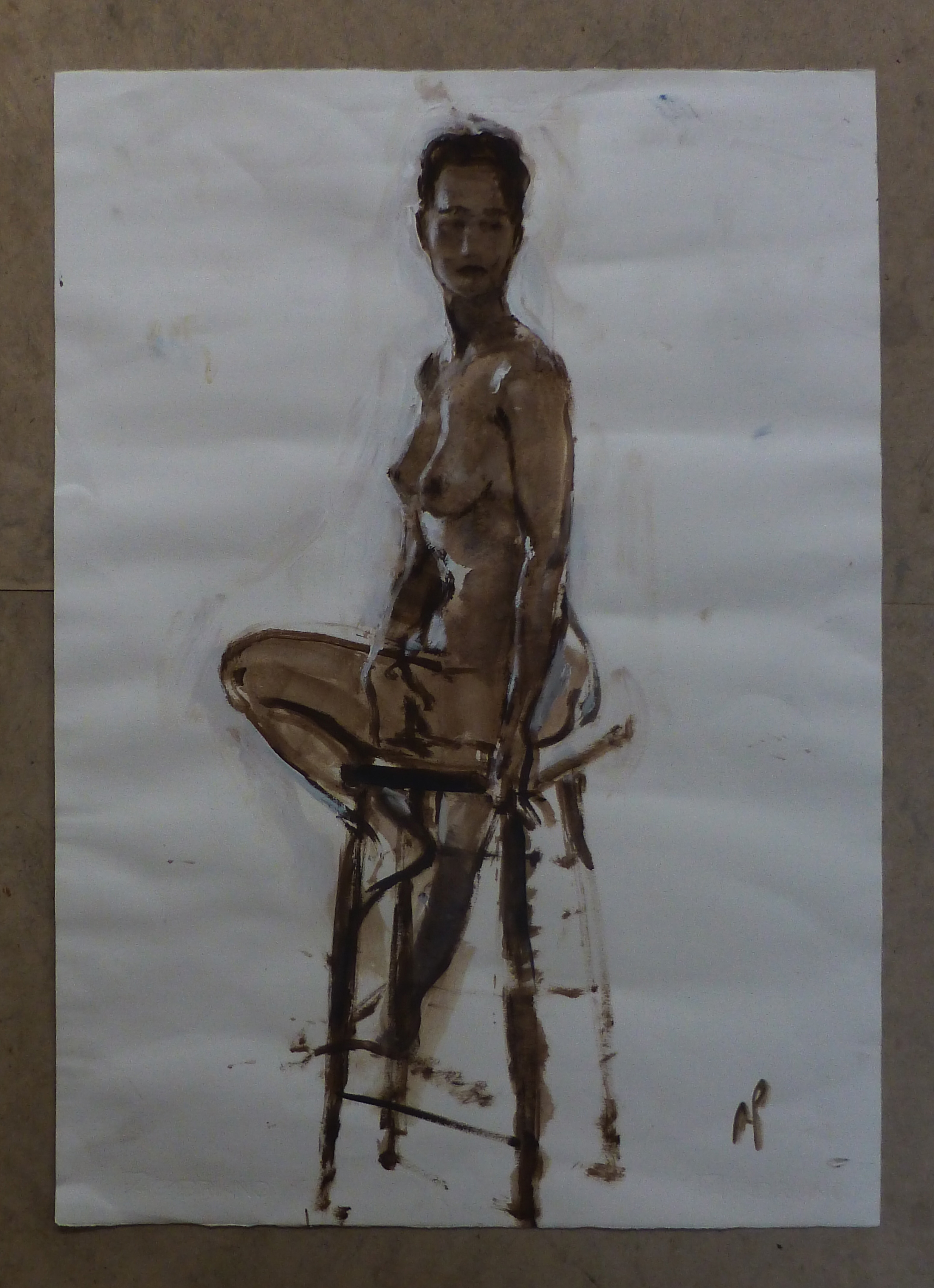 Nude on Stool
