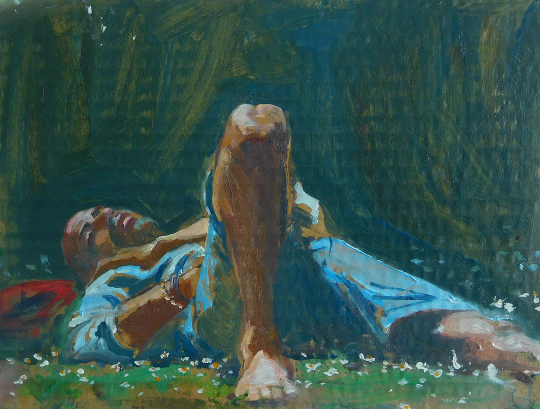 Mark-Pearson-artist-Sleeping-in-the-Daises-22cm-x-32cm-acrylic-&-ink-on-cardboard.jpg