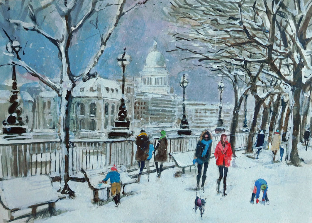 Mark-Pearson-artist-Snowy-View-to-St-Pauls-40cm-x-50cm-acrylic-&-ink-on-paper.jpg